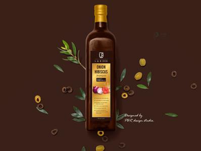 Shampoo Bottle Label Design