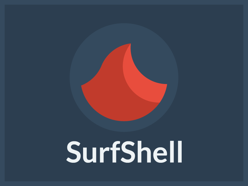 SurfShell flat design flat design adamdehaven surfshell ios app github logo