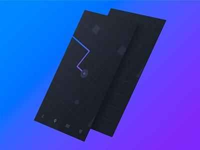 Location app location gps mobile dark map ui