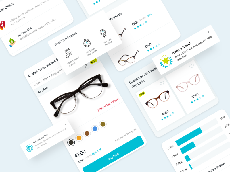 Product Details eyewear product details userinterface user experience interaction design ui design ecommerce app application app app design responsive web website uiux ux ui