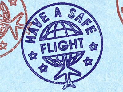 Have a Safe Flight illustration vintage lisbon pt joao neves type nevesman lisboa portugal lettering