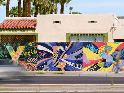 YES! Mural Mockup letter portugal nevesman lettering mural yes