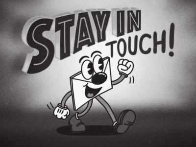 Stay in Touch mail illustration cartoon vintage nevesman portugal lettering