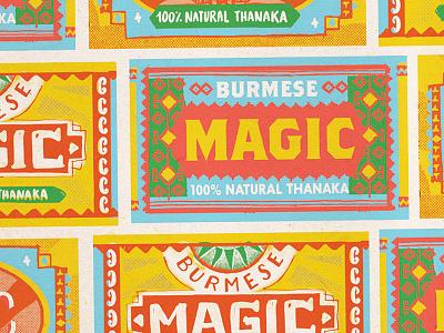 Burmese Magic burmese nevesman label lettering
