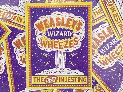 Weasleys' Wizard Wheezes nevesman portugal firework prank weasley vintage lettering potter harry