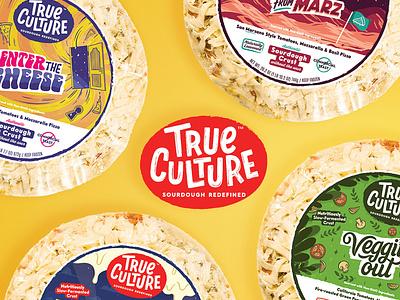 True Culture Pizza portugal illustration frozen packaging packaging pizza packaging lettering sourdough frozen pizza branding pizza