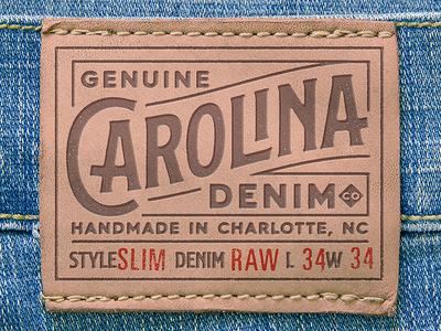 Carolina Denim - Leather Patch