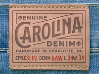 Carolina Denim - Leather Patch