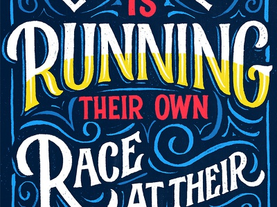 Running typography type procreate lisbon portugal lettering
