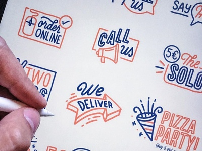 Icons pizza icon lisboa portugal neves lettering