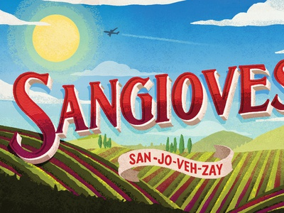 Sangiovese procreate lettering art portugal tuscany italy grape wine lettering