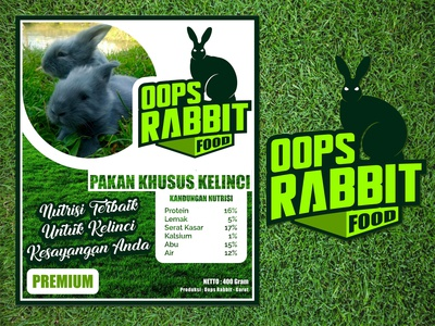 Oops Rabbit Food Label Project