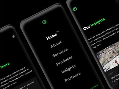 Website Mobile Screen Design mobile ui mobile engineering typography website flat minimal web app ui design