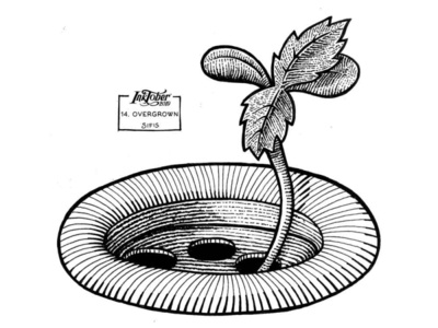 14. Overgrown - Marker sketch