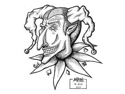 16. Wild - Marker sketch joker wildcard wild inktober 2019 inktober