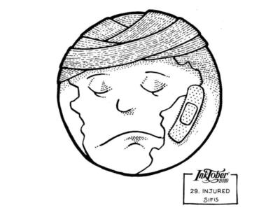 29. Injured - Marker sketch