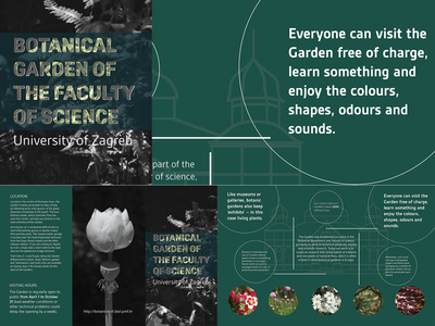 Brochure for Botanical Garden of the Faculty of Science