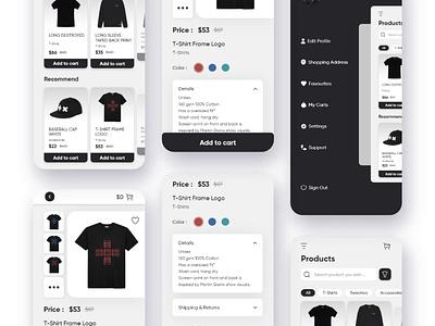 Clothing store app ux design ui design uiux design appdesign mobileapp mobile concept design concept userinterface