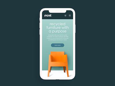 Daily UI Challenge Landing Page web design furniture landing page ui daily ui challenge daily ui