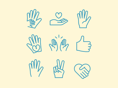 Helping Hands volunteer icon hands
