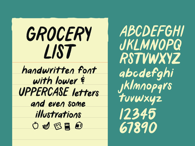 Grocery List - handwritten font handwritten type handwritten handwritten font type design font design font download font typography type