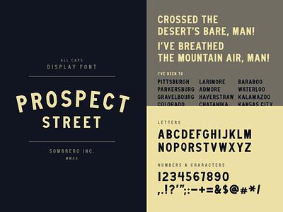 Prospect Street type typography typeface font type design