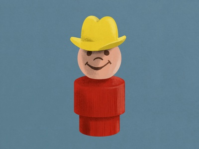 Little People Cowboy illustration toy little people