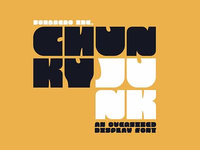 Chunky Junk - Display Font font download download typeface font display font