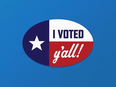 "Texas ""I Voted"" Sticker"