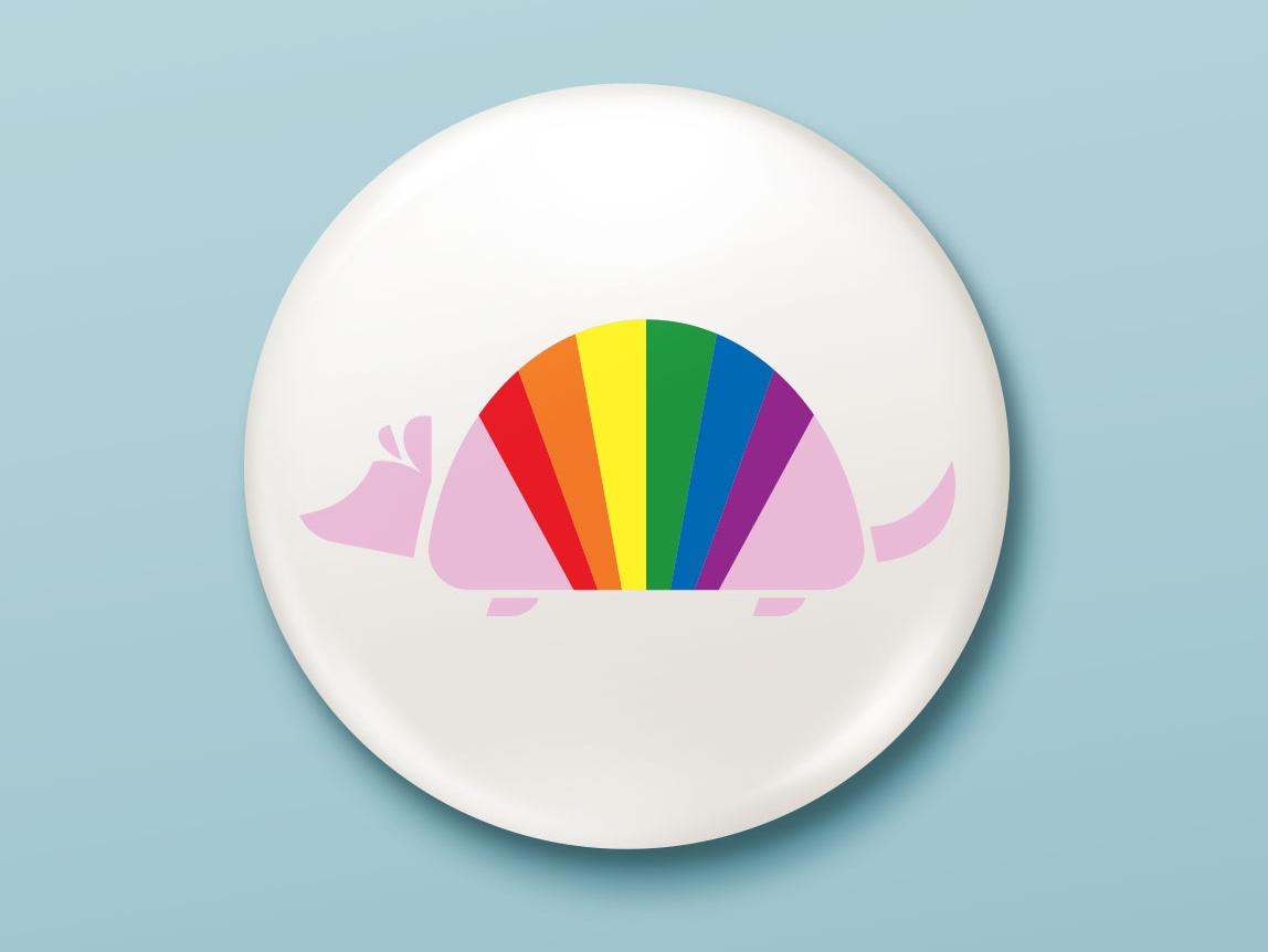 Texas Pride Button button texas pride month armadillo pride