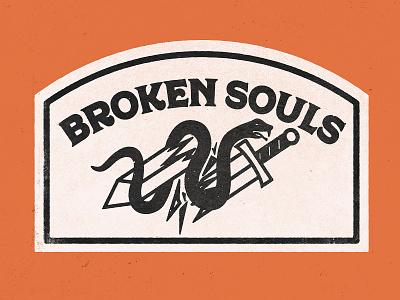 Broken Souls broken patch badge snake