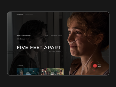 FIVE FEET APART web design webdesign stars drama trailers watch five feet apart movie
