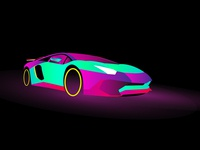 Lambo Aventador - Neon Colors