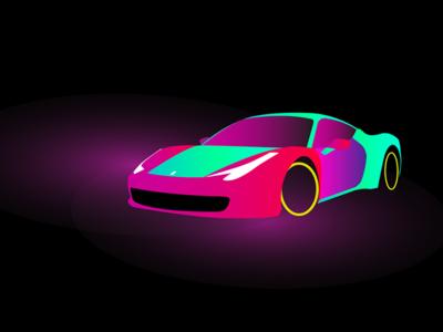 Ferrari 458 - Neon Streets