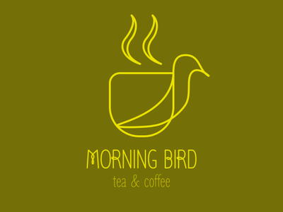 Morning Bird tea coffee design graphic design logo
