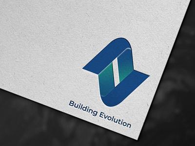 Building evolution building logo graphic design design