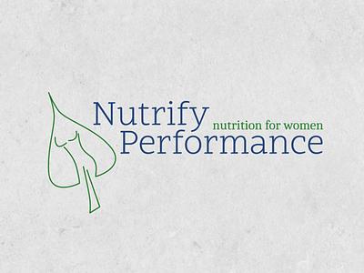 Nutrify performance food logo graphic design design