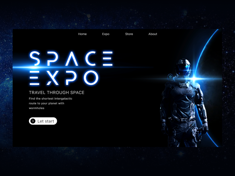 Space Expo landing page ui