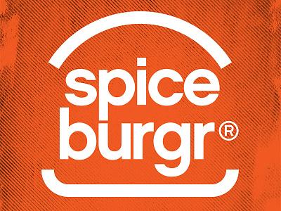 Spice Burgr Branding orange branding food burger spice burgr logo