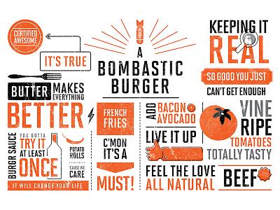 Spice Burgr Wall Artwork signage typography branding artwork