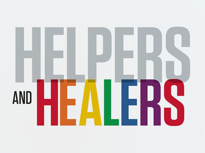 Helpers + Healers pulse orlando feature editorial layout design