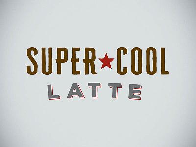 Java Time super cool star typography logo latte java coffee