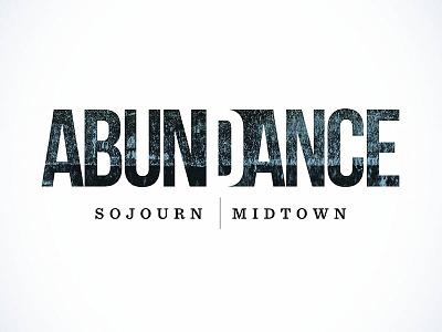 Abundance branding distressed texture abundance logo