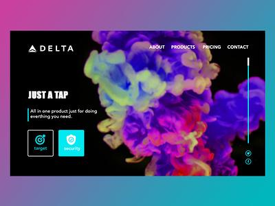 Delta Landing page (Sample Design) ui design ux design uiuxdesign