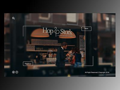 Hop & Stork Coffee Landing Page (Sample Design) ui design ux design uiuxdesign
