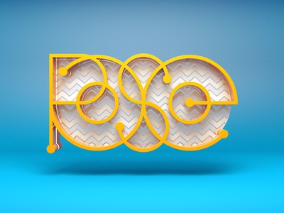 Rose / 3D Typography