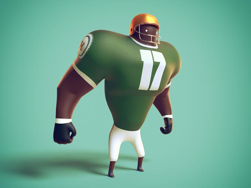 #17 Footballer character football