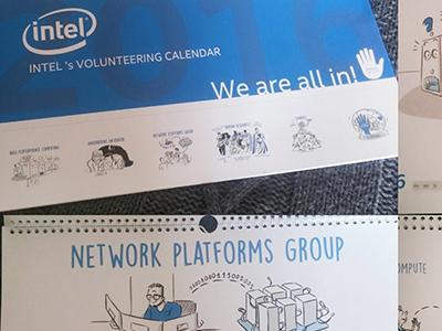 Intel Charity Calendar collaboration