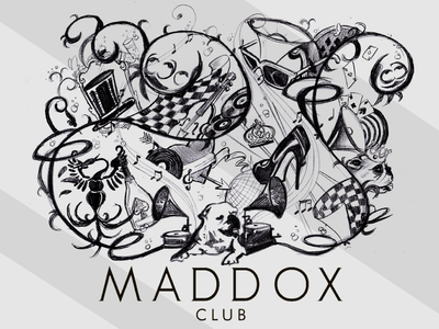 Hand made Logo for Maddox Club in London
