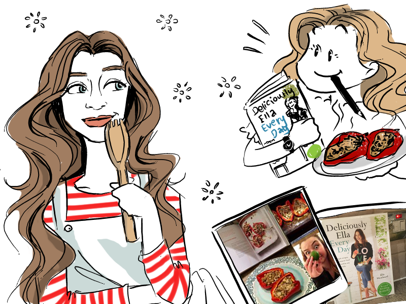 Deliciously Ella  humour cartoon graphic design cookbook deliciously ella